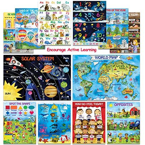 12 Kids Educational Posters for Preschoolers