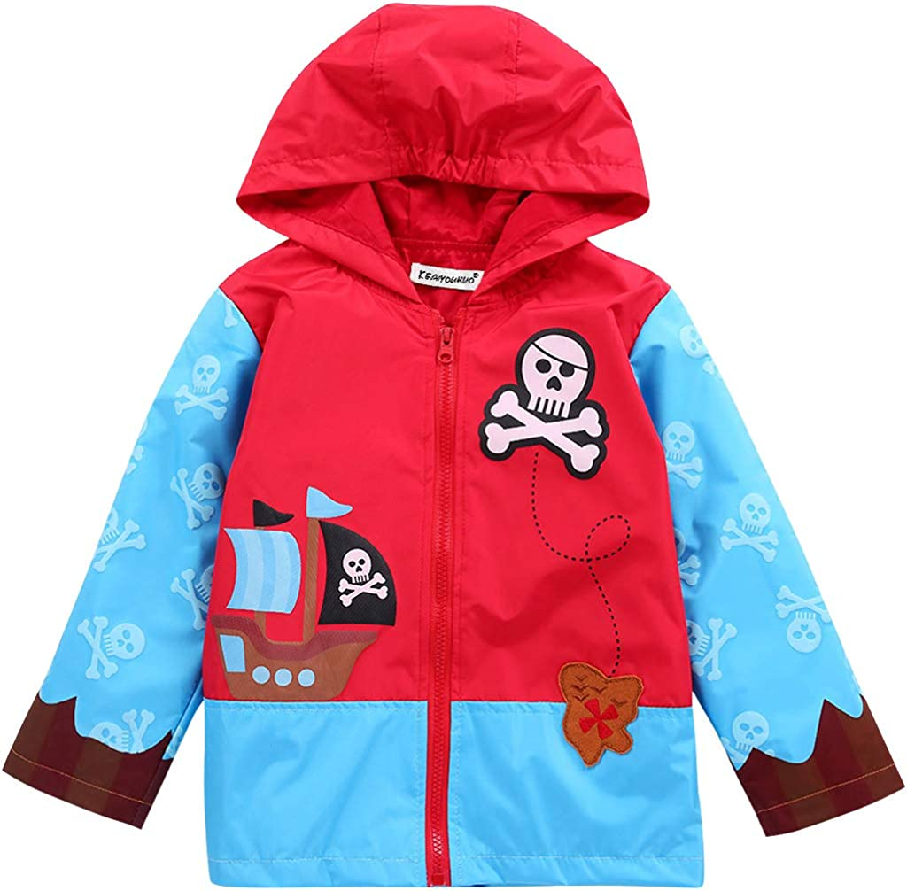 Waterproof Rain Jacket Toddler Boy Raincoat Winter Zip Outerwear