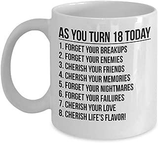Celebrating 18th Birthday Youthful Teenagers Adulthood Coffee Mug Gift Ideas Present Tea Cup 22/29 J