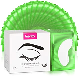 110 Pairs Eyelash Extension Gel Pads, Teenitor Lint Free Lash Under Eye Patches- Green