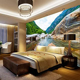 Fotomurales Estilo chino Roca Paisaje natural Papel pintado tejido no tejido 3D Impreso fotomurales Decoración hogareña Para sala de estar tv bar fondo pared 400x280 cm