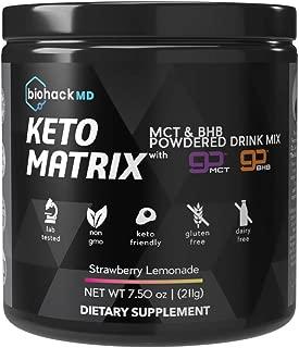 Keto Matrix Keto Supplement - Exogenous Ketones BHB Salts + MCT Oil Powder - Beta Hydroxybutyrate Keto Powder- Formulated by Dr. John Limansky MD,