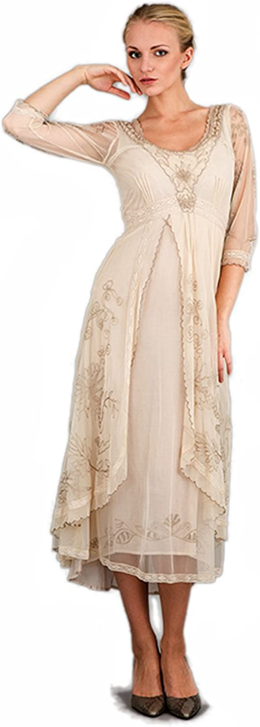 Women's Downton Abbey Seasonal Wrap Introduction Vintage Style Tea Gown Party Pearl Directly managed store in
