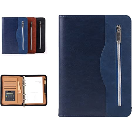 KEYREN A5 Office School Notebook Loose-Leaf PU Leather Cover Meeting Conference Plan Organiser Starting Work Gifts