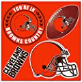 NFL Cleveland Browns 4-Piece Magnet Set, Orange,