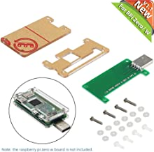 Raspberry Pi Zero W USB-A Add-on Board V1.1 No Data Line Required Plug-In-Play Provide A full Sized, USB Type-A Connector with Protective Acrylic Case for Raspberry Pi Zero or Zero W