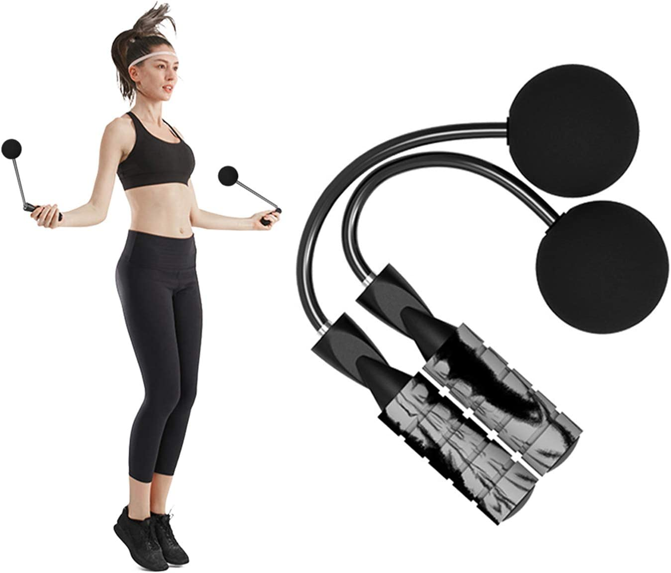 Mgotu Weighted Fitness Cordless Jump Rope Wireless Skipping Rope Indoor Outdoor