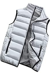 YDSH Mens Sleeveless Ultralight Duck Down Warm Vest Mens Casual Vest Mens Warm Jacket Outwear Waistcoat,Mens Gilets Casual Outdoor Quilted Waistcoats Classic Sleeveless Coats