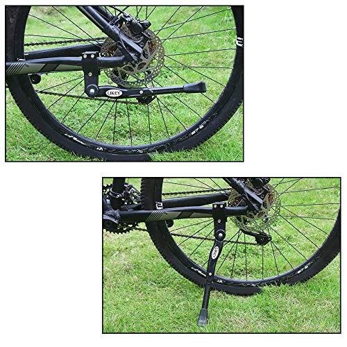 Likey Fahrradständer für 24-28 Zoll,Höhenverstellbarer Fahrradständer,Rutschfester Gummiständer, für Mountainbike, Rennrad, Fahrräder und Klapprad (Schwarz) - 6