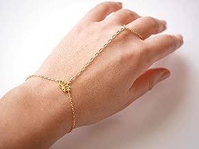 AchidistviQ Mode Femme C/œur /à la Main Harnais Doigt Bague Esclave Bracelet cha/îne Bijoux