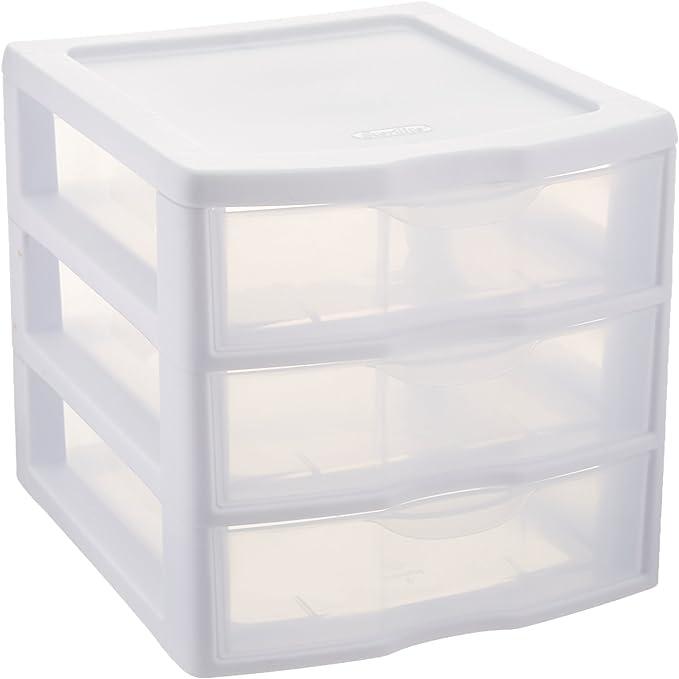 Sterilite Clearview 3 Storage Drawer Organizer Amazon Ca Home Kitchen