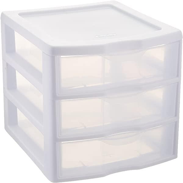 Sterilite ClearView 3 Storage Drawer Organizer