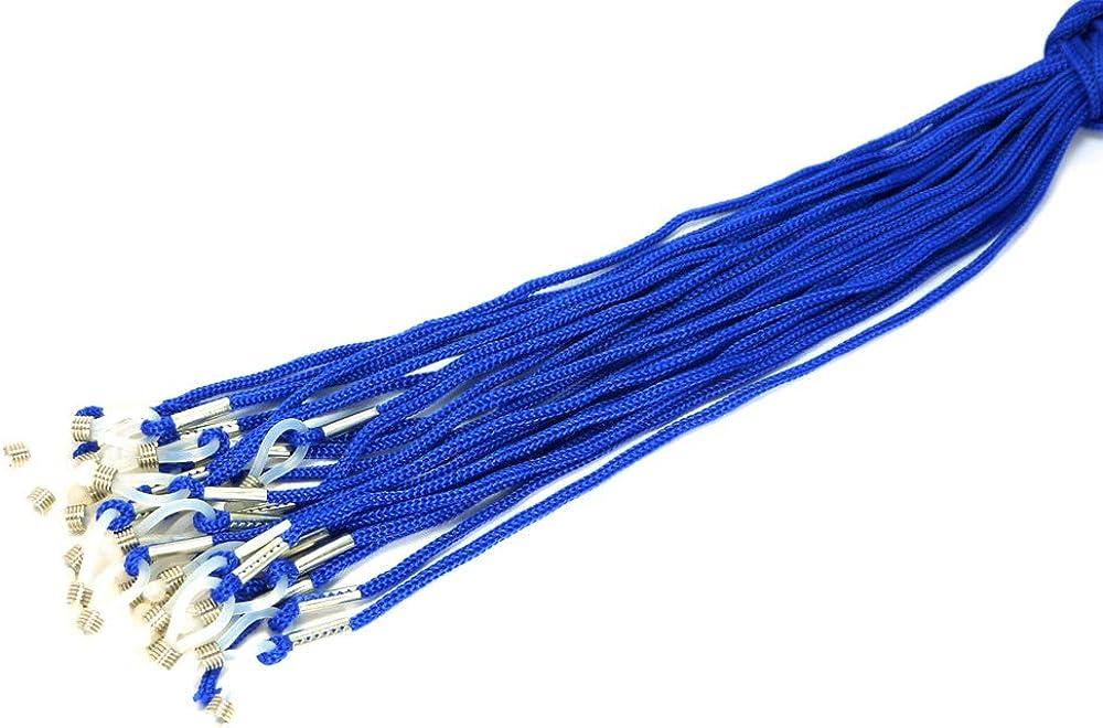 12 PCS Sport Sunglasses Eyeglasses Cord String Retainer Safety Strap BLUE