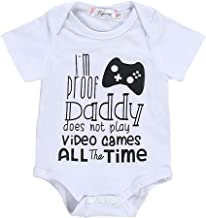 Infant Baby Girl Boy Romper, Short Sleeve Letter Print Bodysuit, Fashion Basic for Newborn Toddler Kid