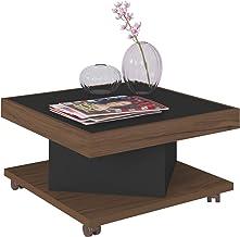Artely Saara Coffee Table, Black & Brown - H 33.5 cm x W 63 cm x D 63 cm