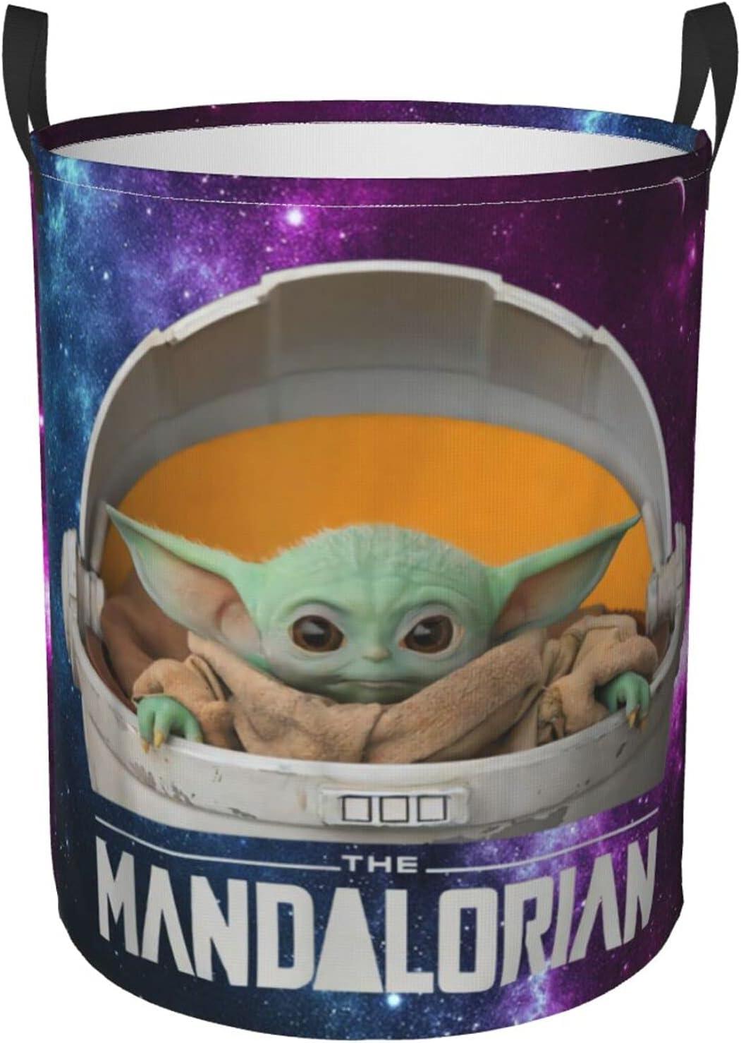 COCOCHILLA Mandalorian Baby Yoda Classic Translated Laundry Storage Collapsi Hamper