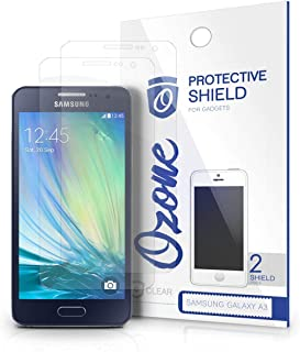 OZONE Crystal Clear HD Screen Protector Scratch Guard for Samsung Galaxy A3 (Pack of 2)