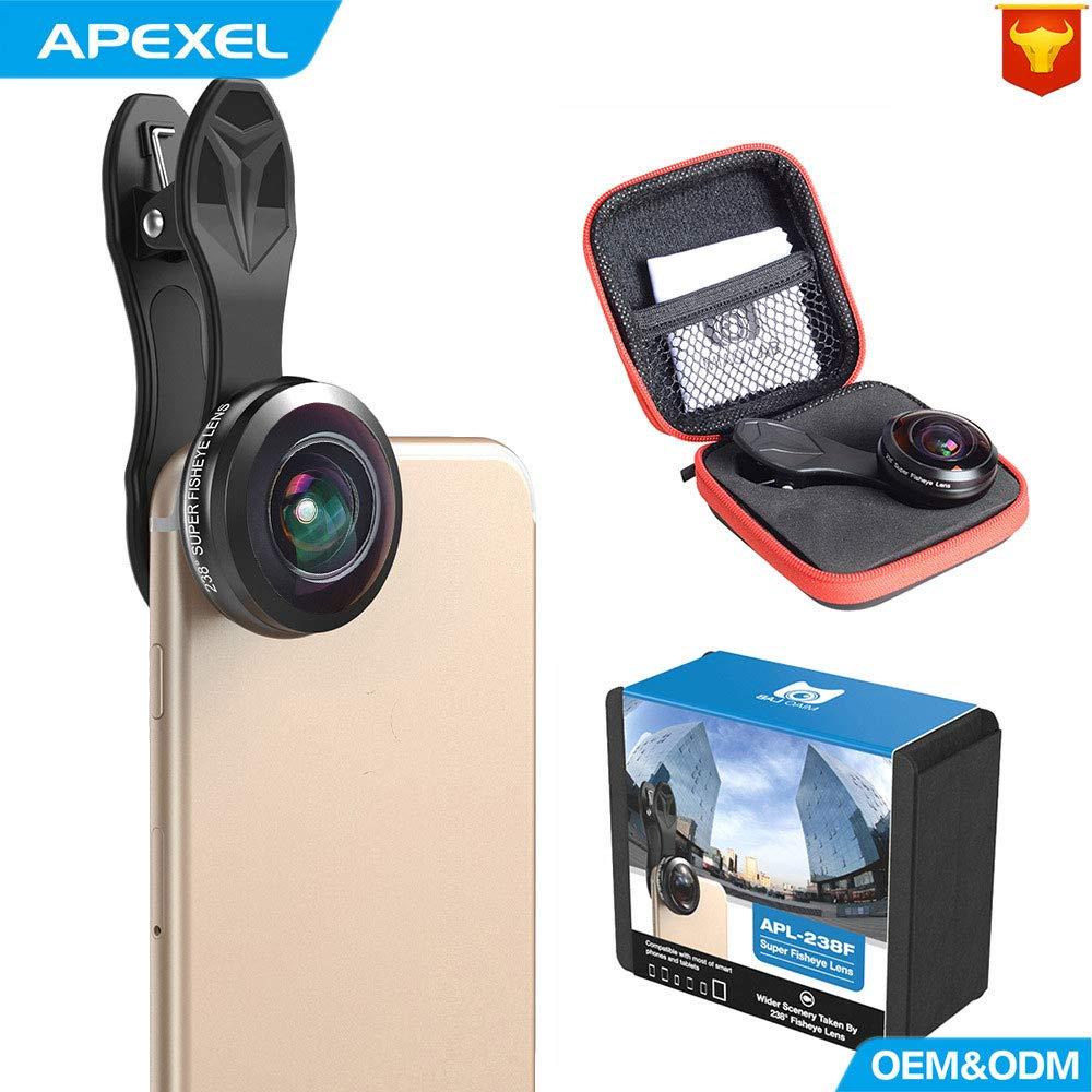 QOUP Lente de la cámara del teléfono móvil, 238 Grados HD cámara ...