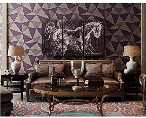 Ayzr Kompakte Tapete Wohnzimmer Schlafzimmer Sofa Tv Hintergrund Wand Tapeten, Violett