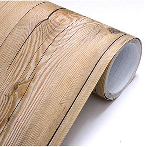 22345 - Pepel pintado, pelar y pegar, diseño de madera estilo vintage, extraíble, 0,5 x 3 m, color marrón