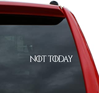 Black Heart Decals & More Game of Thrones - Not Today Vinyl Decal Sticker | Color: White | 7