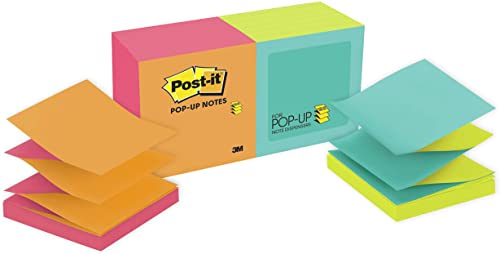 high quality Post-it Pop-up Notes, 3 in x outlet sale 3 in, 12 new arrival Pads, America's #1 Favorite Sticky Notes, Cape Town Collection, Bright Colors, Clean Removal, Recyclable (R330-N-ALT) outlet online sale
