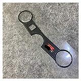 Wjyfexble Autoadesivo della cassa dell'autoadesivo della copertura del giogo del giogo del giogo del giogo del giogo del giogo del motociclo del motociclo di Carbon-Look per SUZUKI GSXR600 750 2004-20
