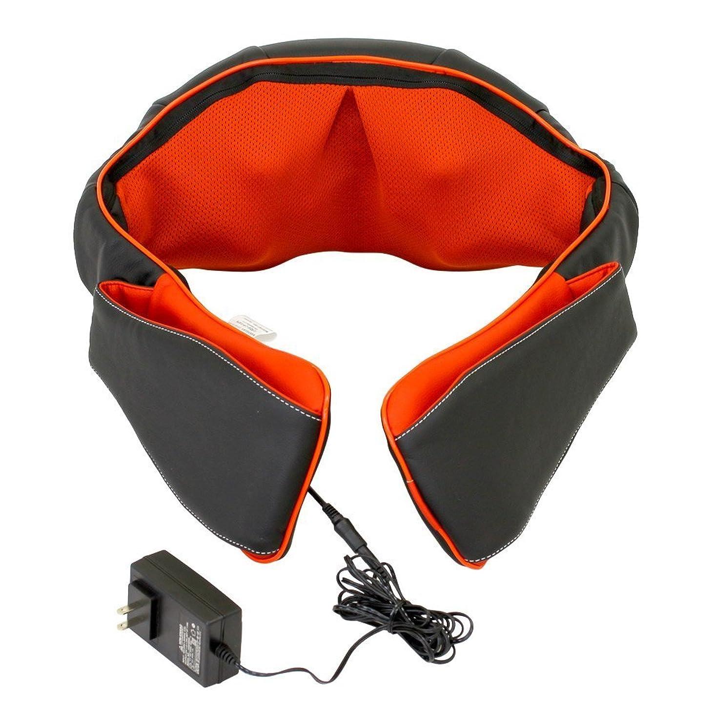 クリーム電子レンジ発生する医療機器認可取得 マッサージ器 ネックマッサー も~む 首?肩?背中?腰 マッサージ機 指圧風もみ玉マッサージ 058356