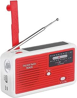 【緊急用・非常用】ラジオライト 手回し発電 太陽光充電 AM/FMラジオ LED懐中電灯・ランタン付き スマートフォン・携帯電話充電可能 内蔵1000mAhリチウム電池災害対策 XIAOKOA