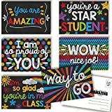 Thinking of You Colorful Chalkboard Themed Blank Postcards For Students From Teachers, Total of 30 4'x6' Fill In Notecards (5 of each design) by AmandaCreation…