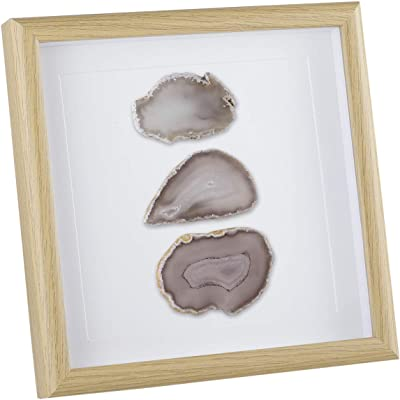 Resin Art Geode Painting Bohemian Decor Fern Art Agate Slice Wooden Wall Hanging