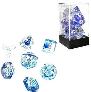 Chessex CHX27466 Dice-Nebula Dark Blue/White Set