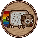 Marshmallow Pugs Patrol Patch - 2' Diameter Round Embroidered Patch