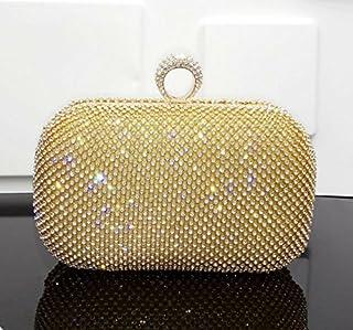 ruiio Fashion Frauen Damen Diamant Abend Handtasche Hochzeit Party Clutch Geldbörse mit Kette