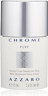 Azzaro Chrome Pure Alcohol-Free Deodorant Stick, 2.6 Oz