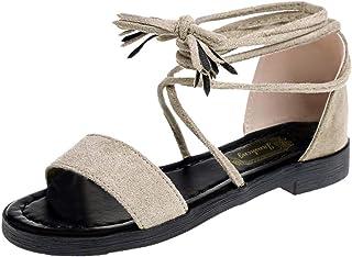 57d922c0b2f JJLIKER Women Suede Cross Ankle-Wrap Open Toe Sandals Lace Up Shoe with  Ankle Tie