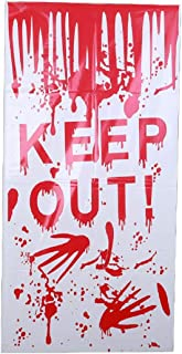 AEVIO Halloween Bloody Handprint Window Clings Wall Poster Door Cover Poster Party Decorations Supplies, 47X24 Inches