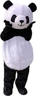 Long Hair Panda Bear Mascot Costume Giant Adult Cosplay Cartoon Character Outfit