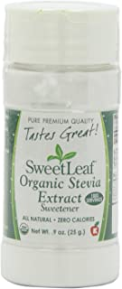 SweetLeaf Organic Stevia Extract, 0.9 Ounce (Pack of 2)