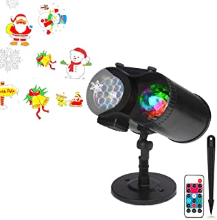 Dr. Prepare DPL-1CL01 Ocean Wave Christmas Projector Light 10 Patterns with Remote Control, IP65 Waterproof LED Landscape Lamp for Outdoor Indoor Xmas New Year Party Yard Garden
