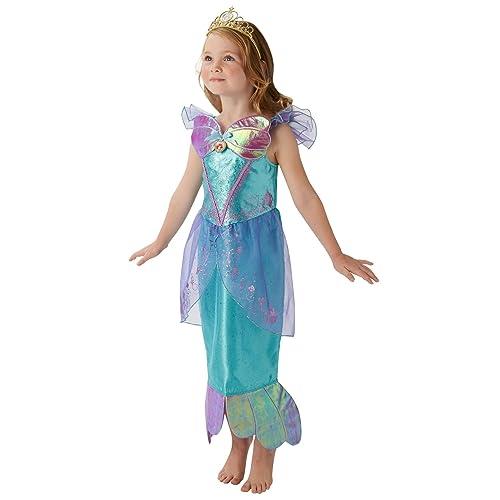 f30fd7fae Rubie's Official Disney Princess Ariel Little Mermaid Childs Deluxe Costume,  Medium 5-6 Years
