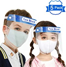YOMI 5PCS Protective Visor Face Shield Clear Visor Flip Up Transparent Face Shield Anti Splash Elastic Band Full Face Cover for Workshop Cooking Cleaning