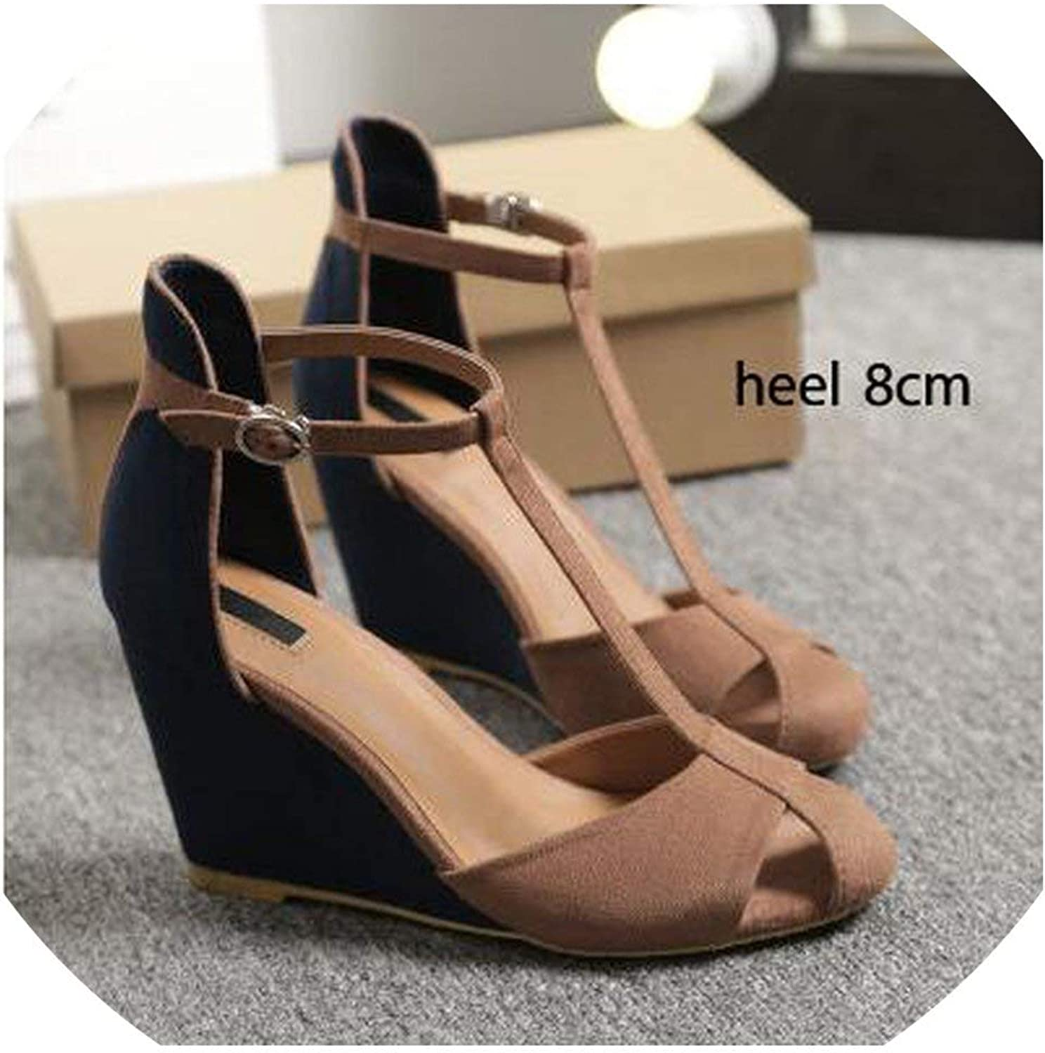 2019 Women Sandals Summer Wedges shoes Lady Size 40 41 aa0749