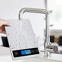 Jooheli Balances de Cuisine numériques, balances de Cuisson en Acier Inoxydable, Balance électronique de 15 kg / 1 g avec ...
