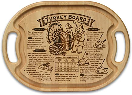 Grande Epicure M009005 Turkey Carving Board with Juice Well and Handles, Wood