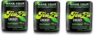 TeaZa Energy Smokeless Tobacco Alternative (3 Pack) Helps You Quit Chewing Tobacco Snuff - Nicotine Free Herbal Energy Dip - Flavored Tobacco Free Chew Helps You Quit Dipping - Peppermint