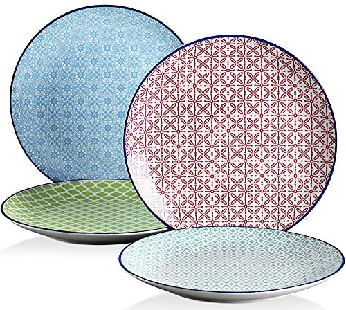 vancasso serie Macaron Vajillas de 4 piezas Platos de Porcelana Redonda , Plato de Postre, Estilo Japonés Pintado a Mano