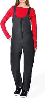 Ohuhu Women's Essential Insulated Bib Overalls, Snow Ski Bibs Pants, Black