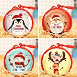 O-Kinee Weihnachten Geschenkbox, 4 Stück Kleine Metalldose Geschenkdosen...