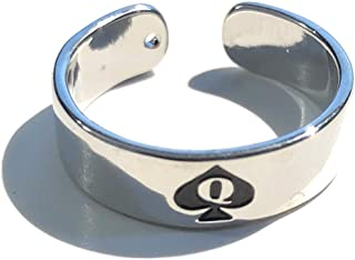 Alternative Intentions Silver Toe Ring Slut, Whore, BBC, Hotwife or Queen of Spades, Swinger Jewelry Lifestyle